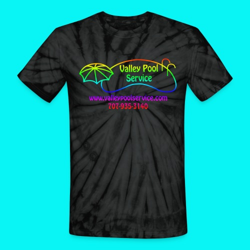 Tie Dyed Mens T-shirt with rainbow logo - Unisex Tie Dye T-Shirt