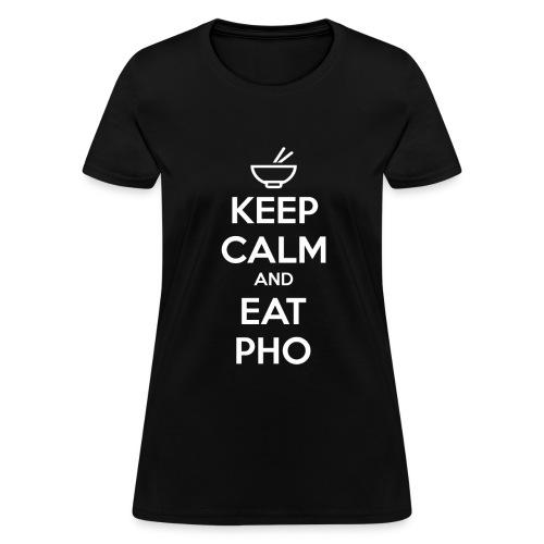 Standard Fit Women's Keep Calm and Eat Pho - Women's T-Shirt