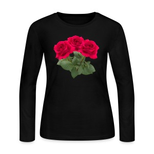 Three red roses Long Sleeve Shirts - Women's Long Sleeve Jersey T-Shirt