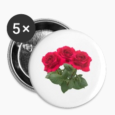 Three red roses Buttons