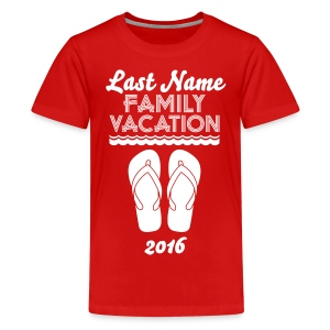 Custom Beach Vacation - Kids' Premium T-Shirt