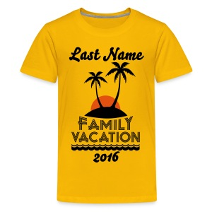 Custom Family Vacation - Kids' Premium T-Shirt