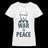 Women's T-Shirts ~ Women's V-Neck T-Shirt ~ Putin