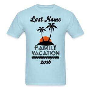 Custom Family Vacation - Men's T-Shirt