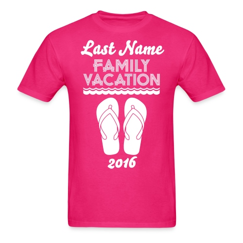 Custom Beach Vacation - Men's T-Shirt