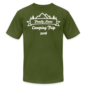 Custom Family Camping Shirts - Men's T-Shirt by American Apparel