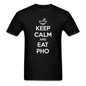 Standard Fit Men's Keep Calm and Eat Pho - Men's T-Shirt