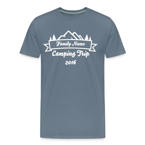 Custom Family Camping Shirts - Men's Premium T-Shirt