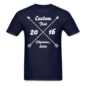 Custom Crossed Arrows - Men's T-Shirt