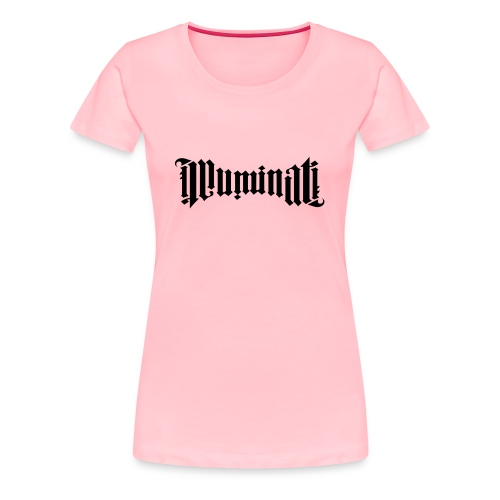 Black Illuminati Logo T-Shirt Female - Women's Premium T-Shirt