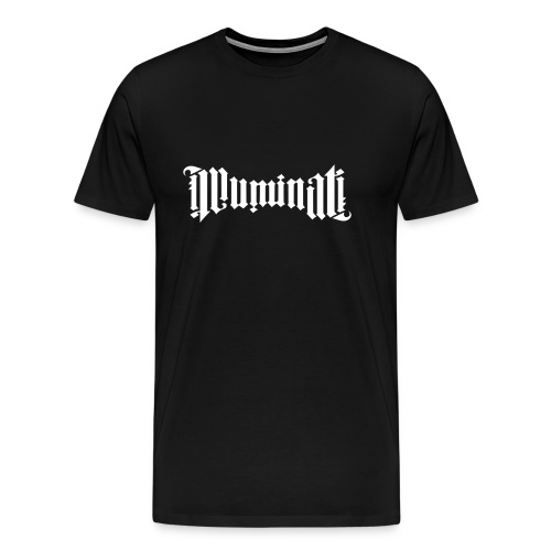 White Illuminati Logo T-Shirt - Men's Premium T-Shirt