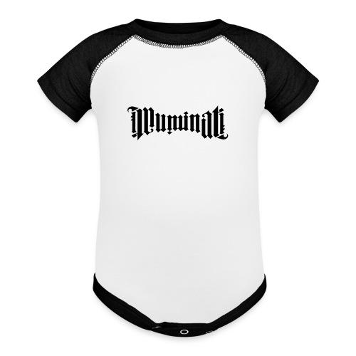Black Illuminati Logo Baby Onepiece - Contrast Baby Bodysuit