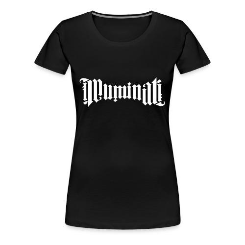 White Illuminati Logo T-Shirt Female - Women's Premium T-Shirt