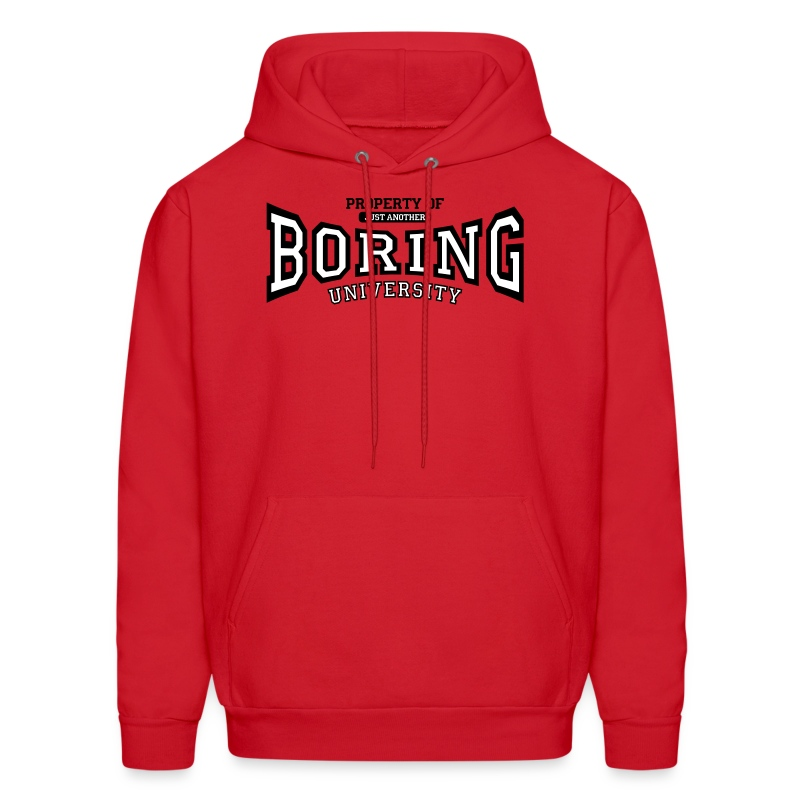 Property of just another boring university (red) - Men's Hoodie