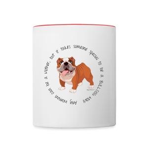 Bulldog Mom Mug - Contrast Coffee Mug