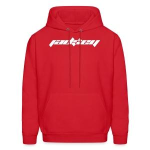 Jadsey White Logo Red Hoodie - Men's Hoodie