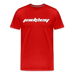 Jadsey White Logo Red Shirt - Men's Premium T-Shirt