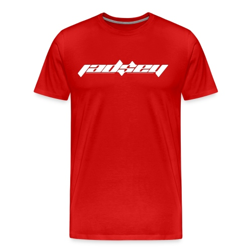 Jadsey White Logo Red Shirt - Men's Premium T-Shirt