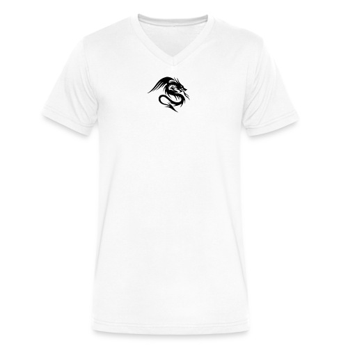 Abstract Dragon T-shirt - Men's V-Neck T-Shirt by Canvas