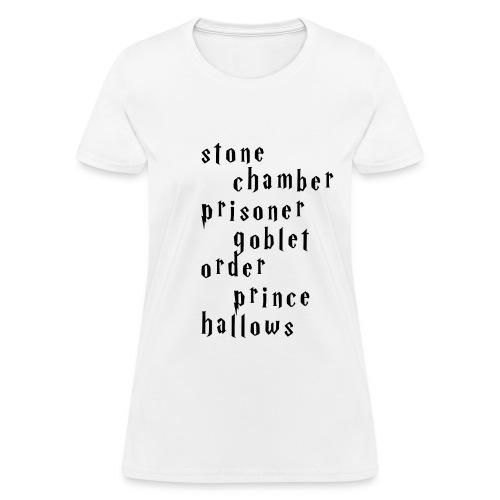 Women's Harry Potter Titles T-Shirt - Women's T-Shirt