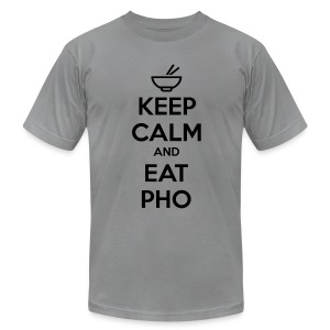 Slim Fit 100% Cotton Keep Calm and Eat Pho - Men's Fine Jersey T-Shirt