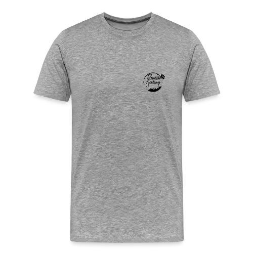 Grey T-Shirt Black logo - Men's Premium T-Shirt