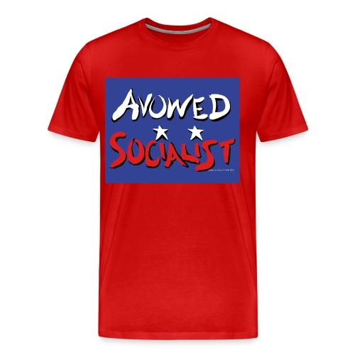Avowed Socialist (with blue field) - Men's Premium T-Shirt