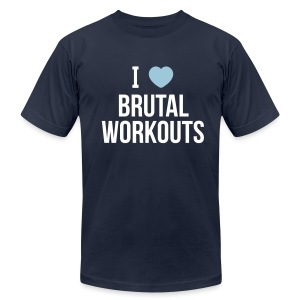 I Love Brutal Workouts - Men's T-Shirt - Men's Fine Jersey T-Shirt
