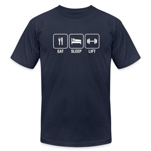 Eat, Sleep, Lift - Men's T-Shirt - Men's Fine Jersey T-Shirt