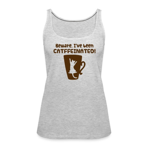 catffeinated tank - Women's Premium Tank Top