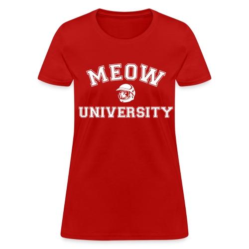 meow university womens - Women's T-Shirt