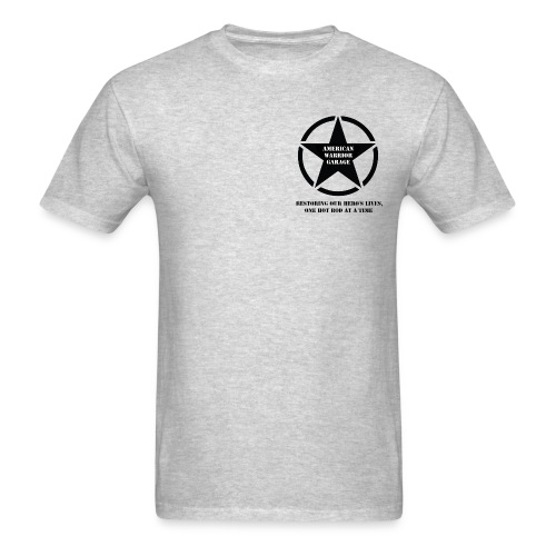 American Warrior Garage T-Shirt Star and Bars Logo - Men's T-Shirt