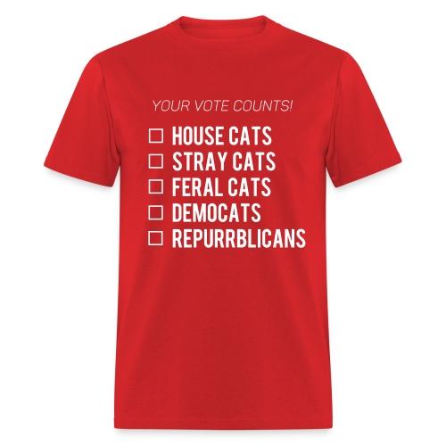 your vote counts unisex - Men's T-Shirt