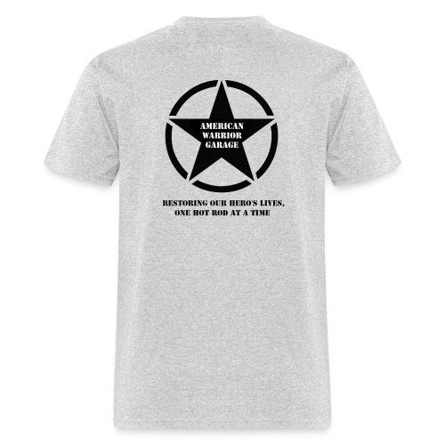 American Warrior Garage T-Shirt Star Logo - Men's T-Shirt