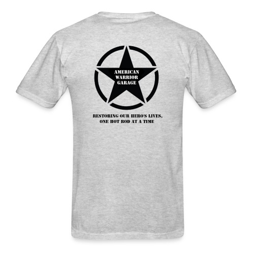 American Warrior Garage T-Shirt Star Logo - Men's T-Shirt