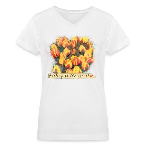 Tulips - Women's V-Neck T-Shirt
