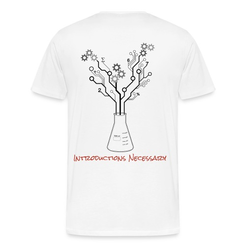 IN Logo Shirt (Back Design, Mens) - Men's Premium T-Shirt