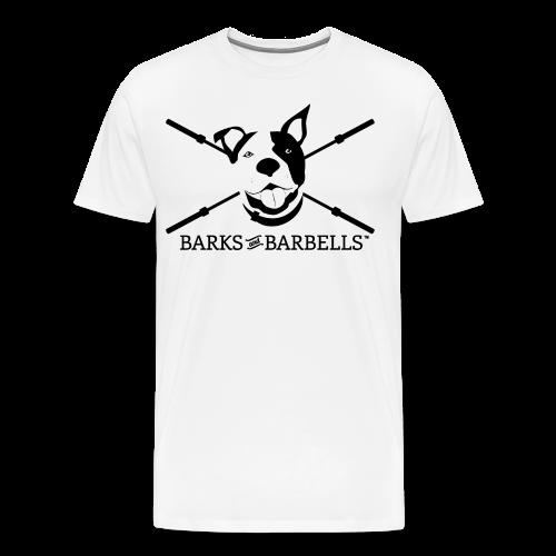 Men's Logo Tee With Black Lettering - Men's Premium T-Shirt