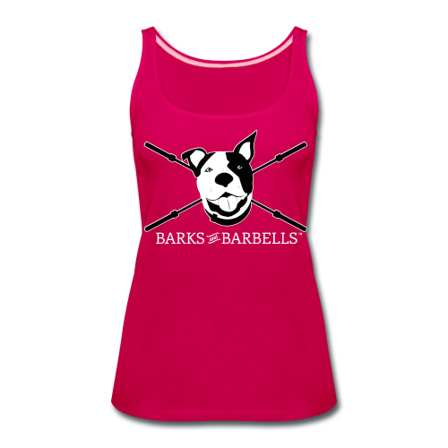 Women's Logo Tank With White Lettering - Women's Premium Tank Top