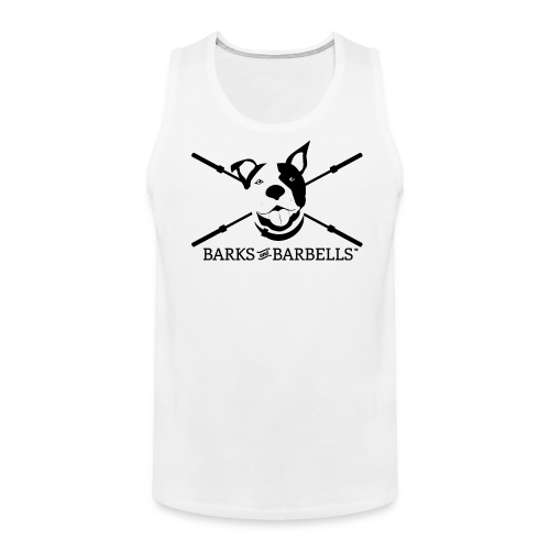 Men's Logo Tank With Black Lettering - Men's Premium Tank