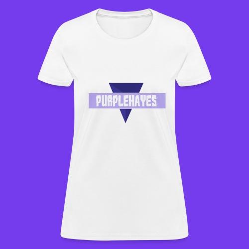 White Womens PurpleHayes T-Shirt - Women's T-Shirt