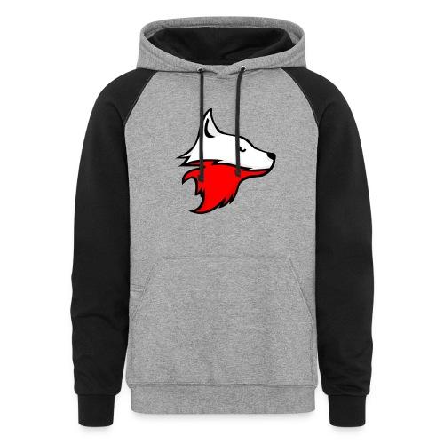 Colorblock Hoodie - Red Fox Racing Logo - Colorblock Hoodie
