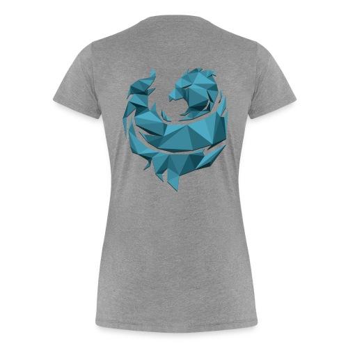 Blue Poly Phoenix - Womens - Women's Premium T-Shirt