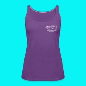 Womens Tank top, printed on front and back with white logo - Women's Premium Tank Top