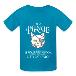 Funny Pirate Kitty Kids Shirt - Kids' T-Shirt