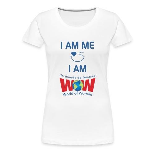 I AM ME-I AM WOW - White   %100 cotton - Women's Premium T-Shirt