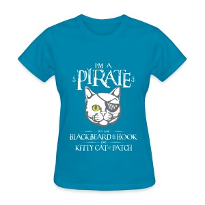 Funny Pirate Kitty T-Shirt - Women's T-Shirt