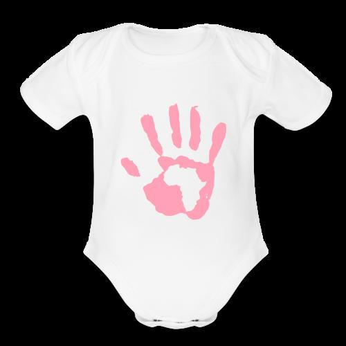 Baby Girl Africa - Organic Short Sleeve Baby Bodysuit