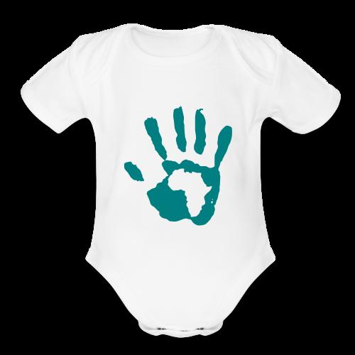 Baby Boy Africa  - Organic Short Sleeve Baby Bodysuit