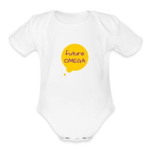 Future Omega   - Short Sleeve Baby Bodysuit